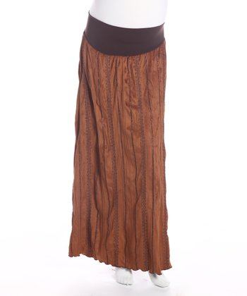 Brown Under Belly Maternity Skirt