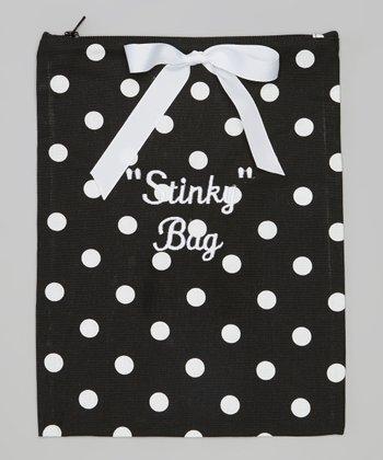 Caught Ya Lookin' Black & White Dots 'Stinky Bag' Wet Bag
