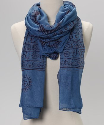 Blue Mahadeva Prayer Shawl