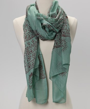 Green Mahadeva Prayer Shawl