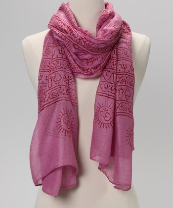 Magenta Mahadeva Prayer Shawl