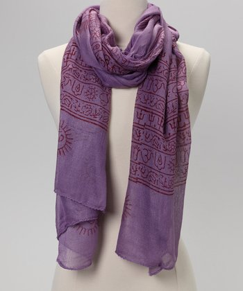 Violet Mahadeva Prayer Shawl
