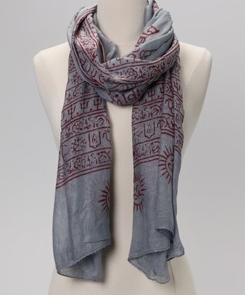 Gray Mahamaya Prayer Shawl