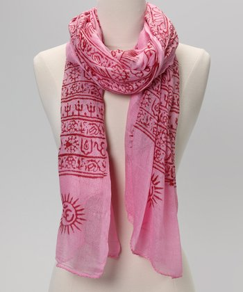 Pink Mahamaya Prayer Shawl