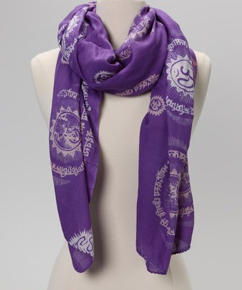 Purple Gayatri Mantra Prayer Shawl
