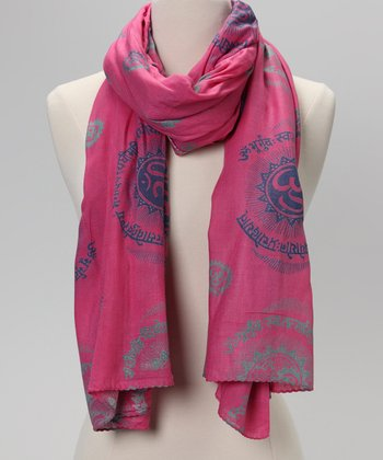 Baby Pink Gayatri Mantra Prayer Shawl