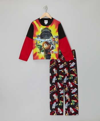 Red & Black LEGO Star Wars Pajama Set - Kids