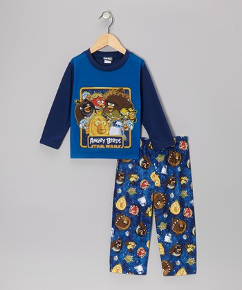 Blue Star Wars Angry Birds Pajama Set Toddler
