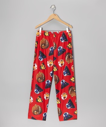 Red Star Wars Angry Birds Pajama Pants - Kids