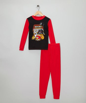 Red Star Wars Angry Birds Pajama Set - Kids