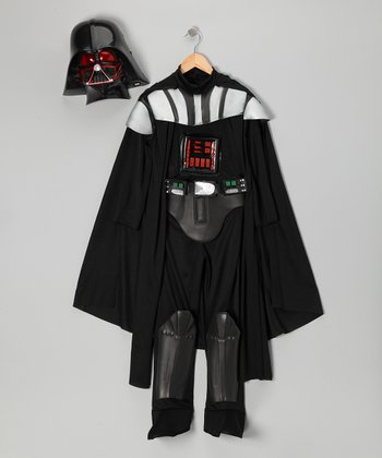 Black & Red Darth Vader Light-Up Dress-Up Set - Kids