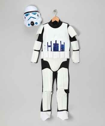 White Stormtrooper Light-Up Dress-Up Set - Kids