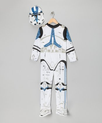 White Clone Trooper Dress-Up Set - Kids