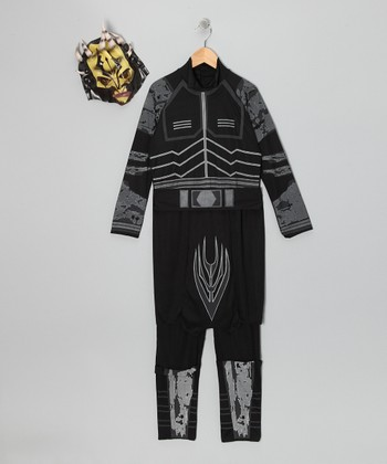 Black & Gray Savage Opress Dress-Up Set - Kids