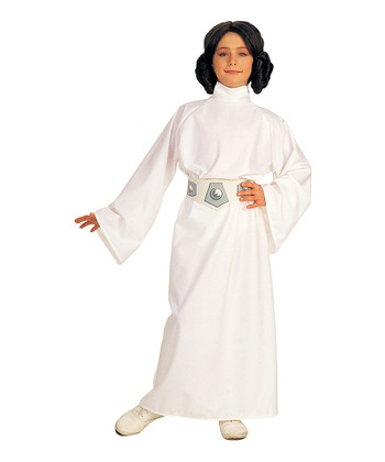 White Deluxe Princess Leia Dress-Up Set - Kids
