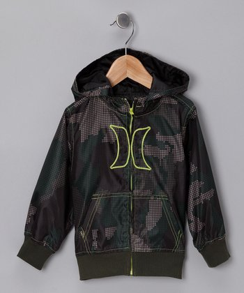 Green Camouflage Zip-Up Hoodie - Toddler