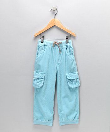 Blue Cargo Draw Pants - Infant, Toddler & Boys