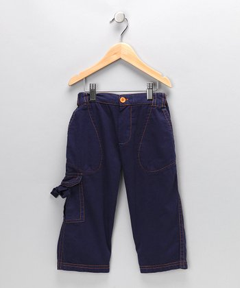 Indigo Twill Cargo Pants - Infant & Toddler