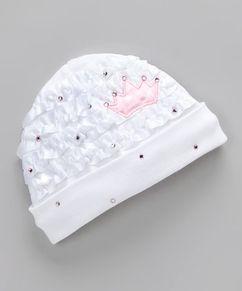 White Royal Baby Beanie - Infant