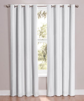 White Cassidy Eclipse Blackout Curtain Panel