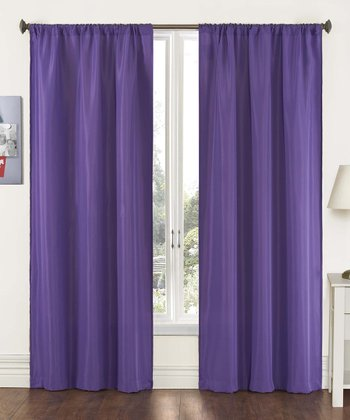 Purple Capella Curtain Panel - Set of Two