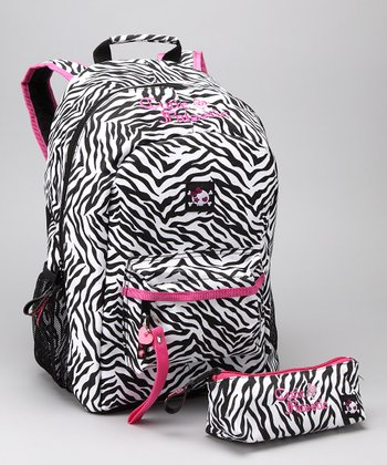 Black & White Zebra Backpack & Pencil Case