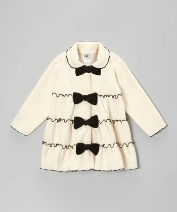 Cream Tiered Bow Jacket - Infant, Toddler & Girls