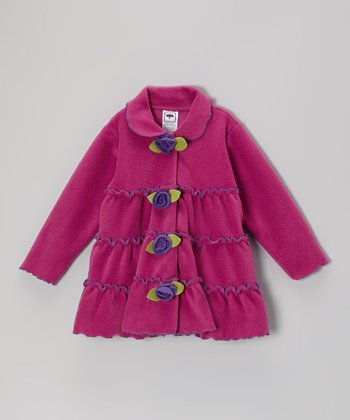 Bright Berry Tiered Rose Jacket  - Infant, Toddler & Girls