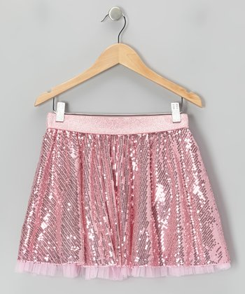 Pink Sequin Skirt - Girls