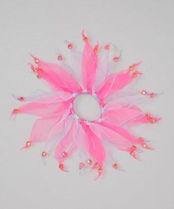Seesaws & Slides Neon Pink Bead Hair Tie