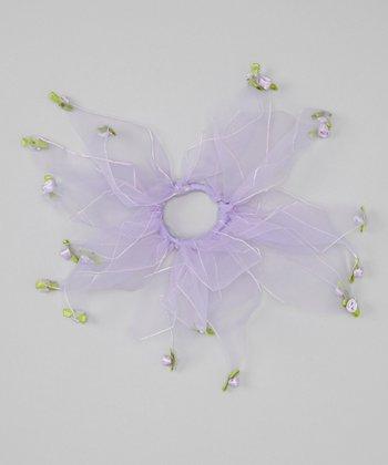 Seesaws & Slides Lavender Rosette Hair Tie