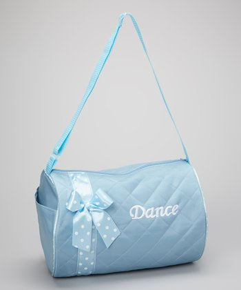 Seesaws & Slides Blue Bow 'Dance' Quilted Duffel Bag