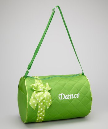 Seesaws & Slides Green Bow 'Dance' Quilted Duffel Bag
