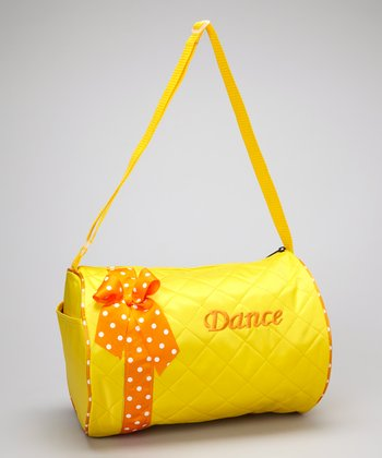 Seesaws & Slides Yellow Bow 'Dance' Quilted Duffel Bag