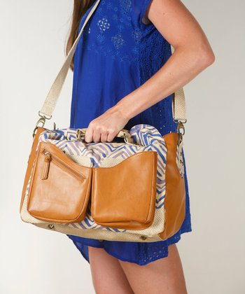 Brown Hydrangea Diaper Bag