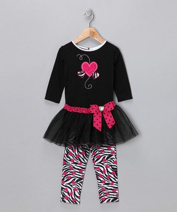 Black Heart Tutu Set - Infant & Toddler