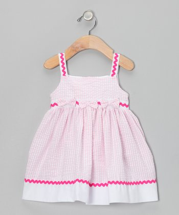 Pink Rickrack Seersucker Dress - Infant