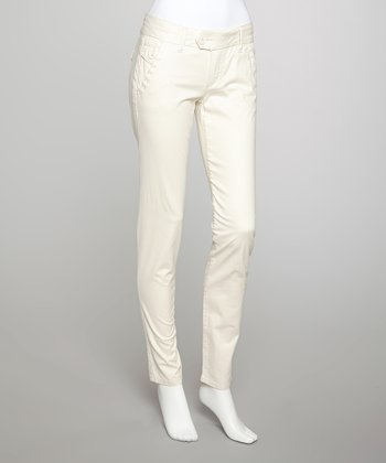 Wheat Whip Stitch Skinny Jeans