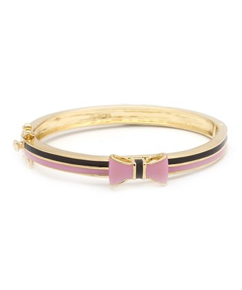 Pink & Brown Bow Bangle