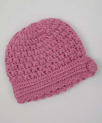 Rose Pink Crocheted Beanie
