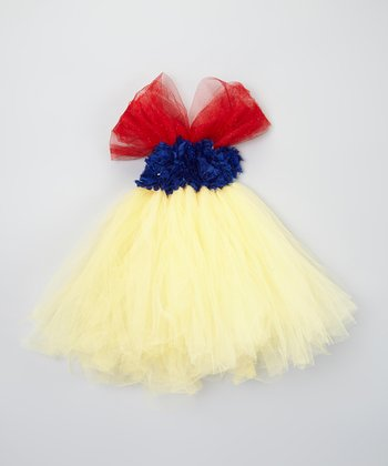 Blue & Yellow Rosette Tutu Dress - Infant & Toddler