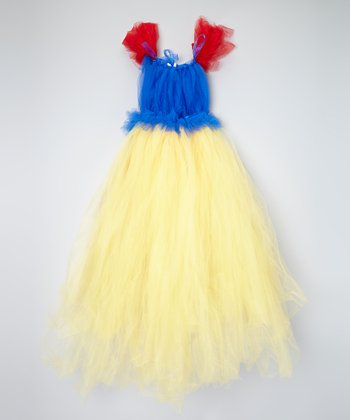 Blue & Yellow Tutu Dress - Toddler & Girls