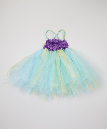 Blue & Purple Rosette Tutu Dress - Infant & Toddler