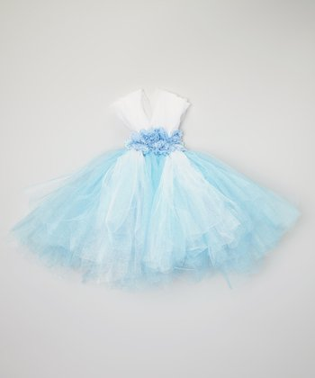 Blue Rosette Tutu Dress - Infant & Toddler