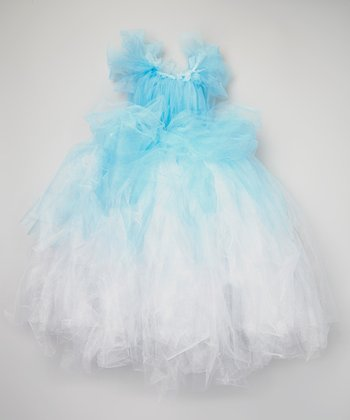 Blue & White Tutu Dress - Toddler & Girls