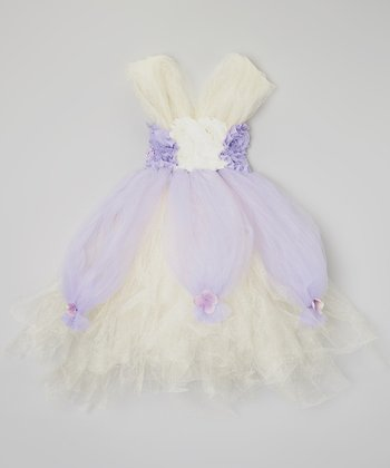 Lavender & Light Yellow Rosette Tutu Dress - Infant & Toddler