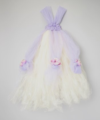 Lavender & Light Yellow Tutu Dress - Toddler & Girls