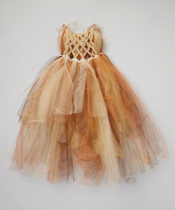 Brown & Ivory Tutu Dress - Toddler & Girls