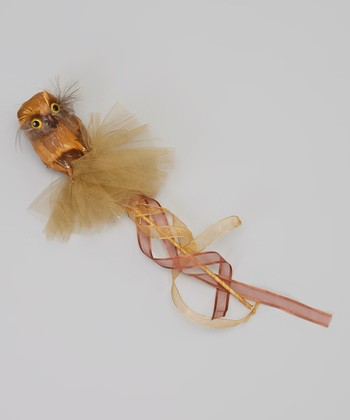 Brown & Gold Owl Wand