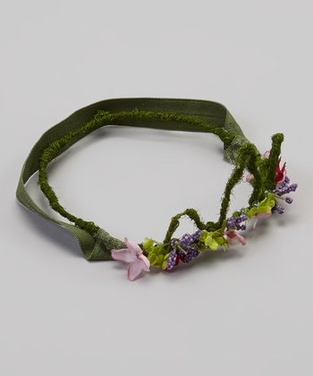 Green & Purple Flower Crown